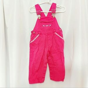Girl's Pink Overalls Size 18M
